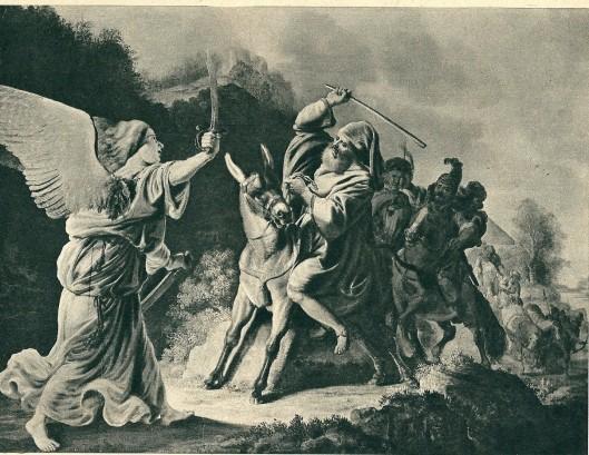 Gerrit Claeszoon Bleker: Bileam tegengehouden door de engel (Museum Boymans, Rotterdam)