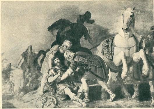Saulus op reis naar Damascus met blindheid geslagen door Gerrit Claeszoon Bleker (Museum Boymans)