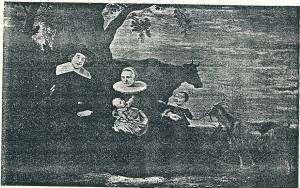 Familieportret door Gerrit Claesz. Bleker, voorstellende: Jacob Dirrcksz de Roy met zijn echtgenote Marrietje Bonte en hun beide zonen Jan en Dirk. De vader was regent van het Rooms-Katholiek armbestuur in Amsterdam. Het schilderij is gedateerd 1641 en bezit van museum Amstelkring