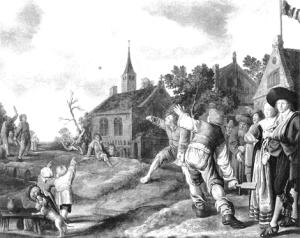 Jan Miense Molenaer: de balspelers. 1631