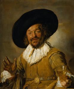 'De vrolijke drinker' door Frans Hals