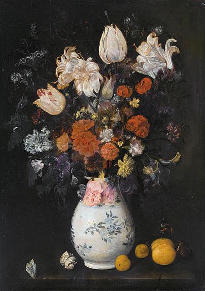 Judith Leyster: blompotje, vermoedelijk geschilderd in 't Lam