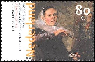 Judith Leyster op Nederlandse postzegel (1999)