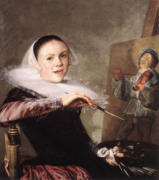 Zelfportret van Judith Leyster uit 1635