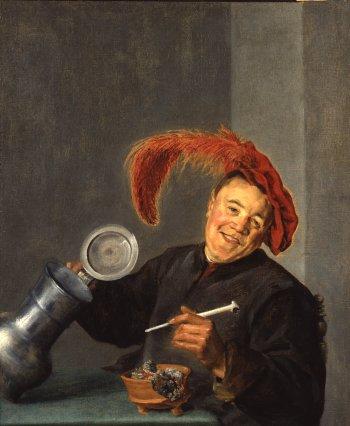Judith Leyster: een vrolijke drinker (Gemäldegalerlie, Berlijn)
