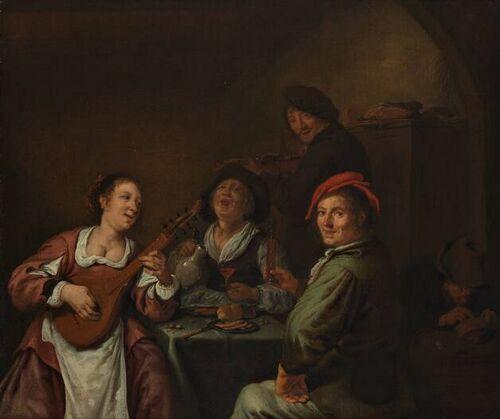 J.M.Molenaer, Een vrolijk gezelschap (Museum Boymans van Beuningen, Rotterdam)