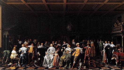 Jan Miense Molenaer: het huwelijk van Willem van Loon met Margarethe Bas in 1637 (Museum Van Loon, Amsterdam)
