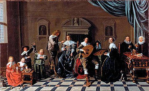 Jan Miense Molenaer: familiegroep Ruychaver-van der Laan. Maerten Ruychaver was o.a. burgemeester van Haarlem (Museum van Loon, Amsterdam)