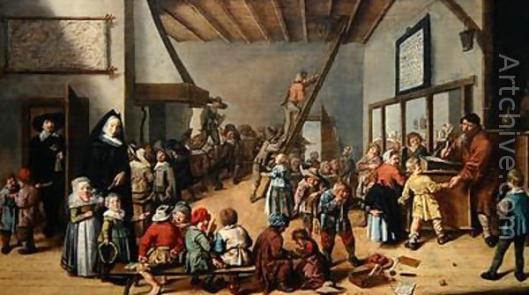 Jan Miense Molenaer: dorpsschool (1639)