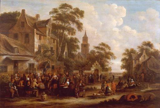 Jan Miense Molenaer: de viering van een kerkelijk feest