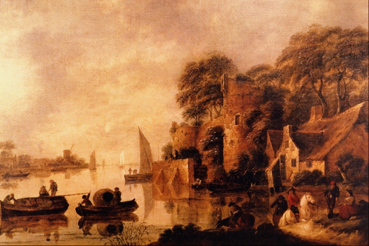 Jan Miense Molenaer: rivierlandschap