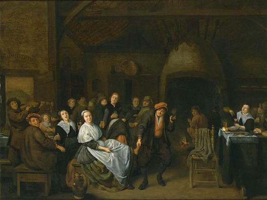 Jan Miense Molenaer: drinkende boeren (schilderij in particuliere verzaeling)