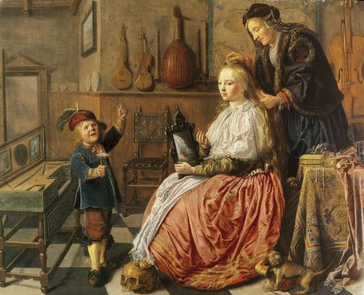 Jan Miense Molenaer: allegorie op de ijdelheid (Toledo Museum of Art, USA)