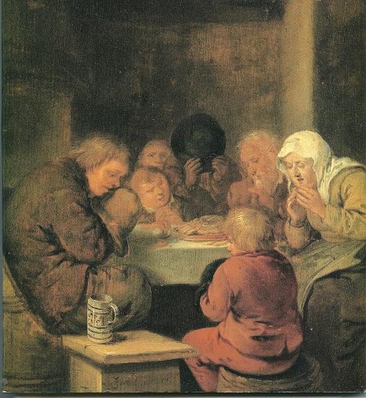 'Gebed voor de maaltijd' door Jan Miense Molenaer