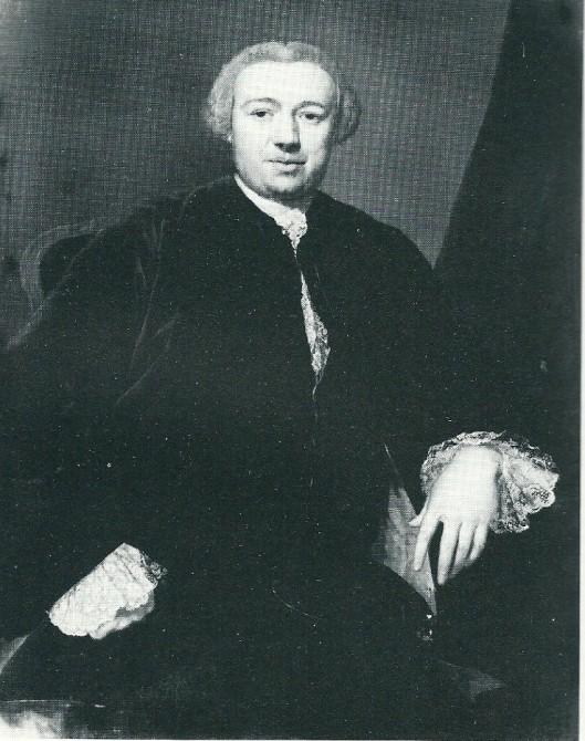 Mr. Pieter van Schuyelburch (1714-1764), eerste echtegenoot van Maria Machteld van Sypesteyn. Portret uit 1763 door George van der Mijn (circa 1727-1763)