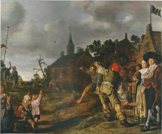 Schilderij 'de balspelers' uit 1631 van Jan Miense Molenaer, dat kortgeleden is verworven door het Frans Hals Museum.