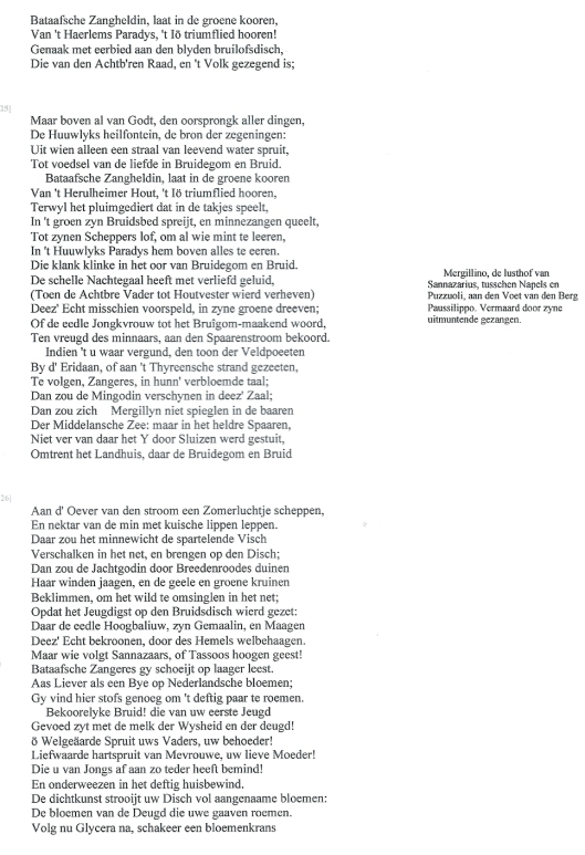 Uit: Pieter Langendijk. De gedichten, deel 3 (DBNL)
