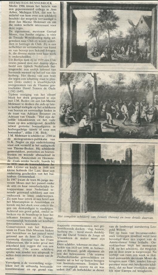 Artikel door Hans Krol in Heemstede Centraal van 8 maart 1989
