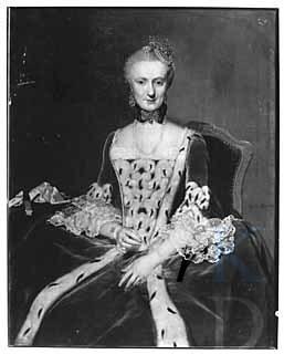 Geschilderd portret van Maria Machteld van Sypesteyn door George van der Mijn (1763)