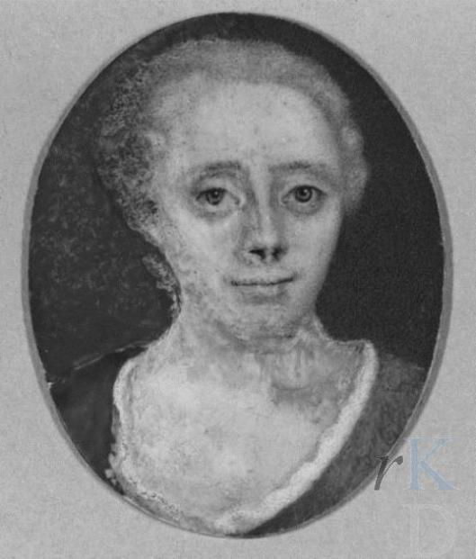 Portretminiatuur van Levina van Mollem (1705-1743) . Vervaardigd door Maria Machteld van Sypesteyn, 1742 Kasteel-Museum Sypesteyn, Loosdracht (RKD)