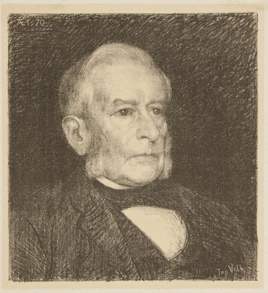 Portret van antiquaar en veilinghouder R.W.P.de Vries door Jan Veth (Teylers Museum)