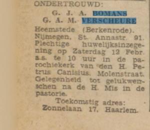 Uit: De Tijd van 28 januari 1944