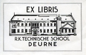 Ex libris R.K.Technische School Deurne