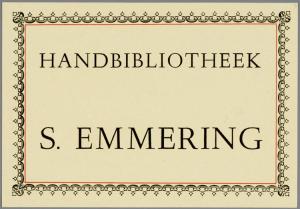 Handbibliotheek van antiquariaat Emmering, Amsterdam (coll. Jaap van Velzen)