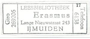 Erasmus Leesbibliotheek, IJmuiden (stempel)