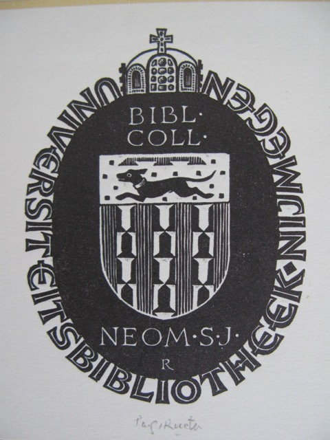 Exlibris universiteitsbibliotheek Nijmegen
