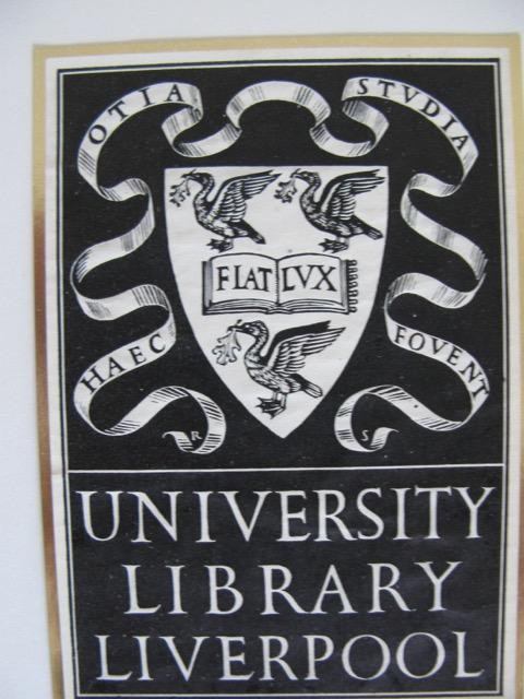 Ex libris Universiteit Liverpool