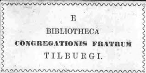 Bibliotheca Congregationis Fratrus Tilburg