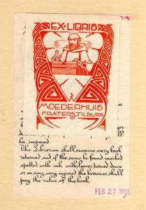 Ex libris Fraterhuis Tilburg