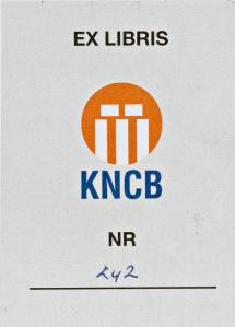 Exlibris KNCK = Koninklijke Nederlandse Cricket Bond