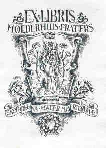 Exlibris moederhuis fraters Tilburg (collectie Ronald Peeters)