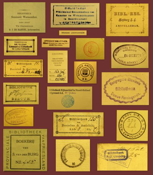Exlibris iot de verzameling van Perkamentus