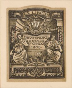 Exlibris museum Plantijn, Antwerpen