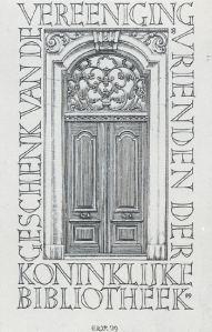 Exlibris Vrienden van de Koninklijke Bibliotheek Den Haag