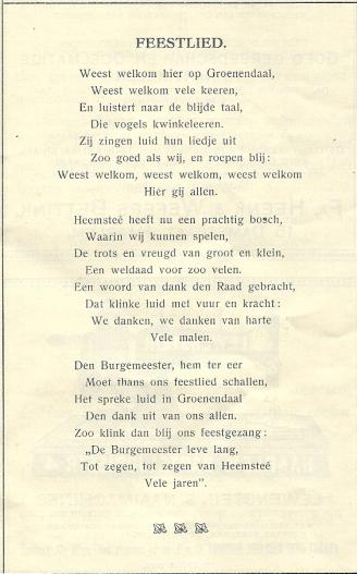 feestgids 40 jarig huwelijk BURGEMEESTER JHR.MR.D.E.VAN LENNEP (1865 1934) EN GROENENDAAL  feestgids 40 jarig huwelijk