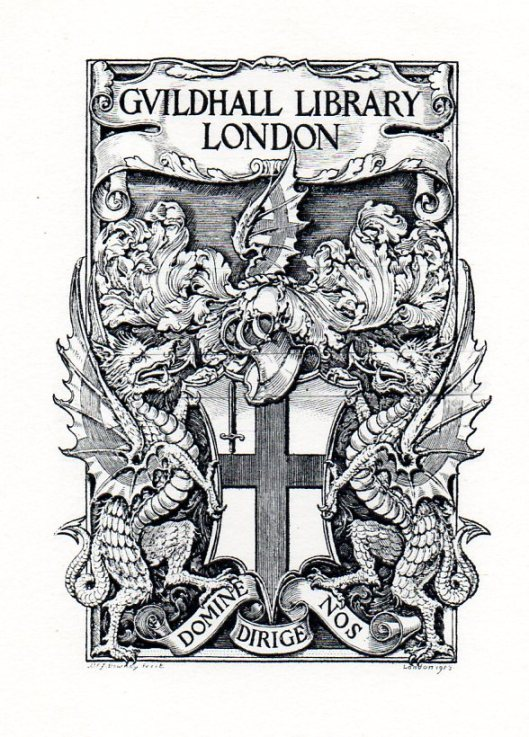 Exlibris van Guildhall Library, London