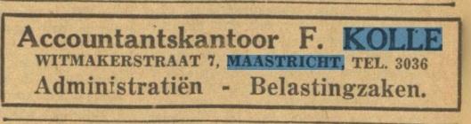 Advertentie uit Limburgs Dagblad, 1941