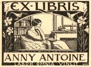 Ex libris uit collectie Louis Koopman (1887-1968) via legaat in de Kon. Bibliotheek opgenomen