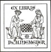 Ex libris dr. M.Niemeijer (Koninklijke Bibliotheek Den Haag)