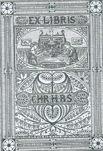 Ex libris van de Christelijke H.B.S., Den Haag