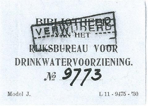 Bibliotheek van het Rijksbureau voor drinkwatervoorziening, Den Haag