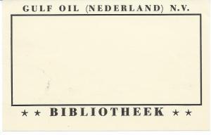 Bibliotheek van Gulf Oil (Nederland) n.v.