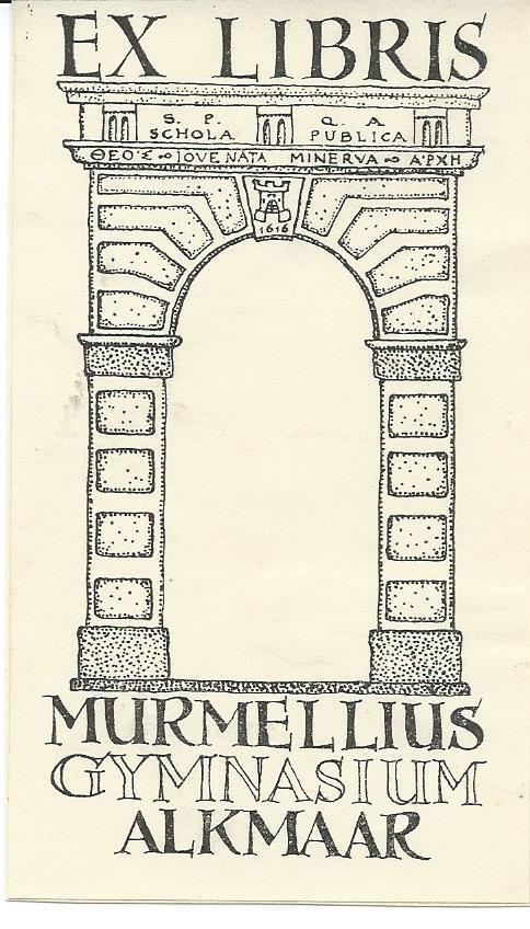 Ex libris Murmellius gymnasium Alkmaar