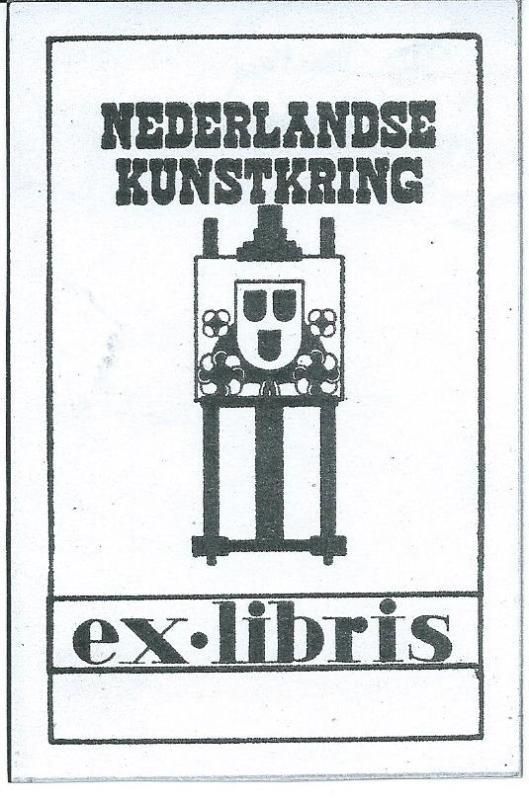 Ex libris Nederlandse Kunstkring, Den Haag