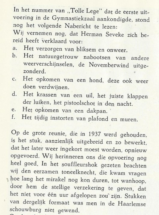 Vervolg over 'Bloed en Liefde' uit: Gedenkboek Triniteits Lyceum Haarlem 1922-1947.