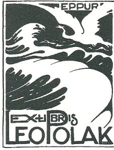 Exlibris prof.mr.dr. Leo Polak (1880-1941), hoogleraar wijsbegeerte, in 1949 in buikleen gegeven door de Leo Polak-Stichting